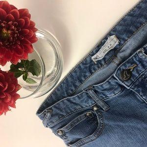 Free People Medium Wash Skinny Jeans, 28 EUC